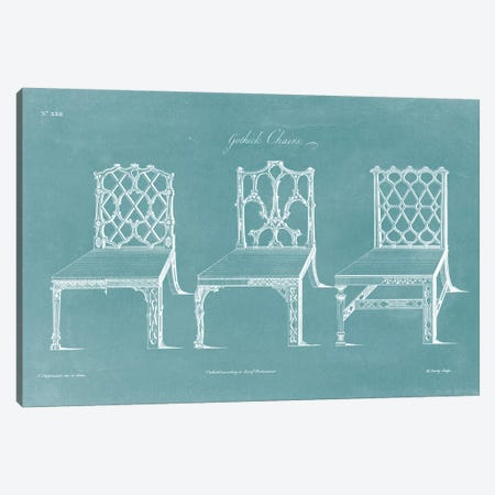 Design For A Chair II Canvas Print #TCH2} by Thomas Chippendale Canvas Art