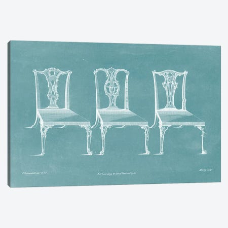 Design For A Chair III Canvas Print #TCH3} by Thomas Chippendale Canvas Wall Art
