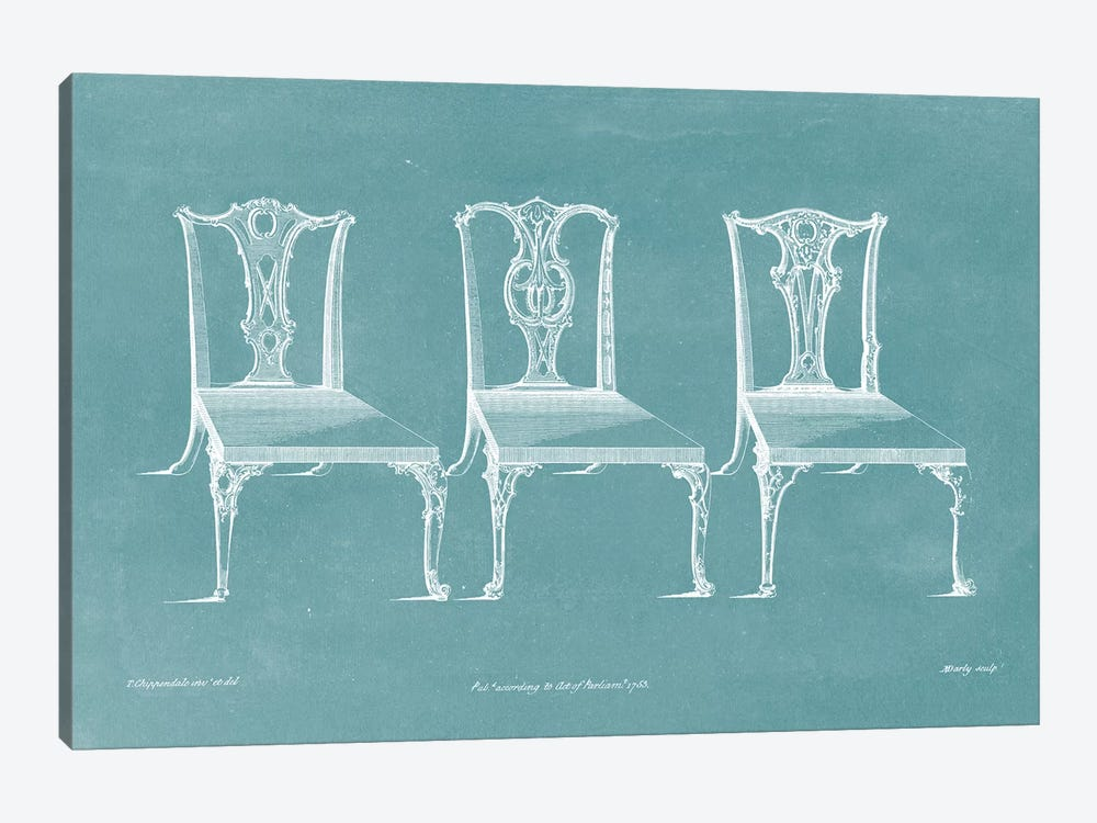 Design For A Chair III by Thomas Chippendale 1-piece Canvas Art
