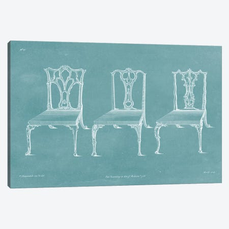 Design For A Chair IV Canvas Print #TCH4} by Thomas Chippendale Canvas Print