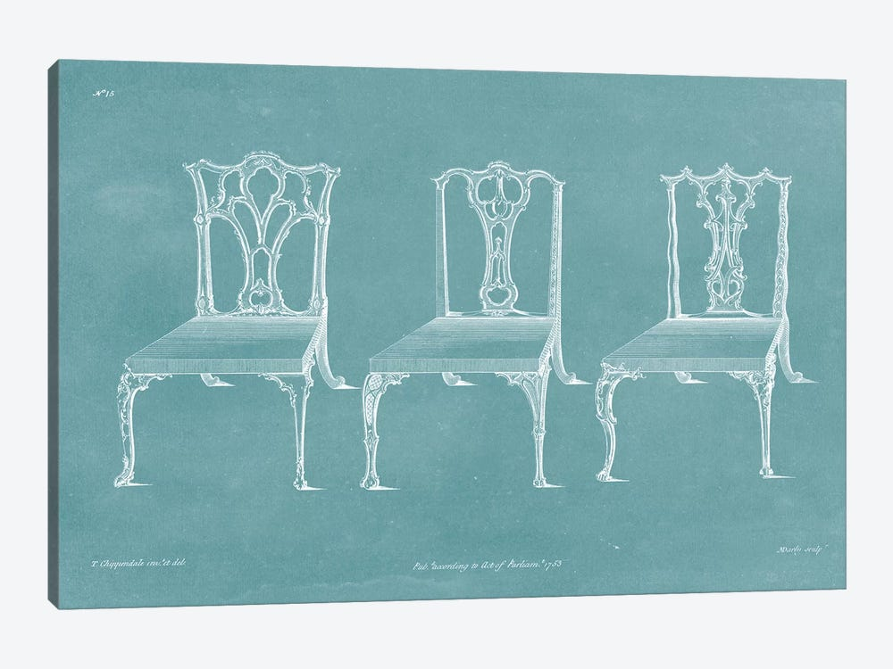 Design For A Chair IV by Thomas Chippendale 1-piece Art Print