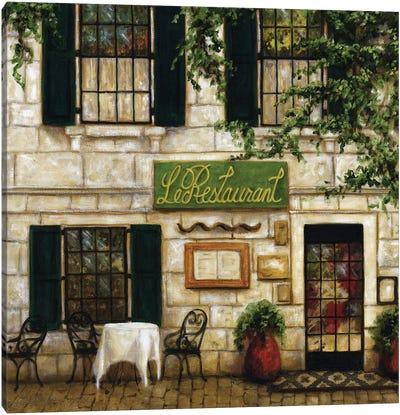 Cafe I Canvas Art Print