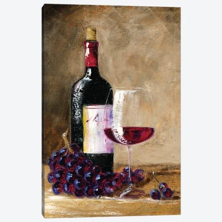 Afternoon Wine Canvas Print #TCK15} by Malenda Trick Canvas Art