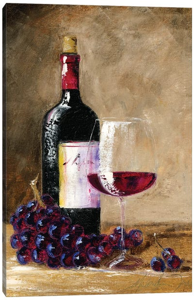 Afternoon Wine Canvas Art Print