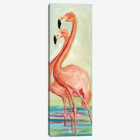 Two Flamingos Canvas Print #TCK1} by Malenda Trick Art Print
