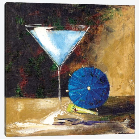 Blue Martini Canvas Print #TCK21} by Malenda Trick Canvas Art
