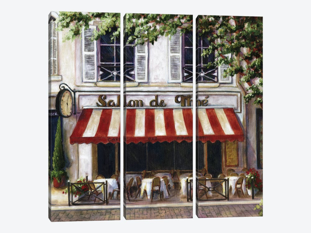 Cafe II by Malenda Trick 3-piece Canvas Wall Art