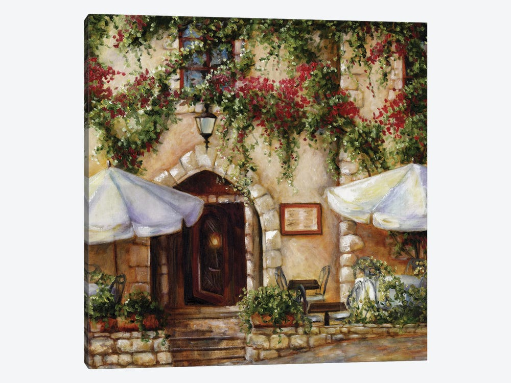 Cafe X by Malenda Trick 1-piece Canvas Artwork