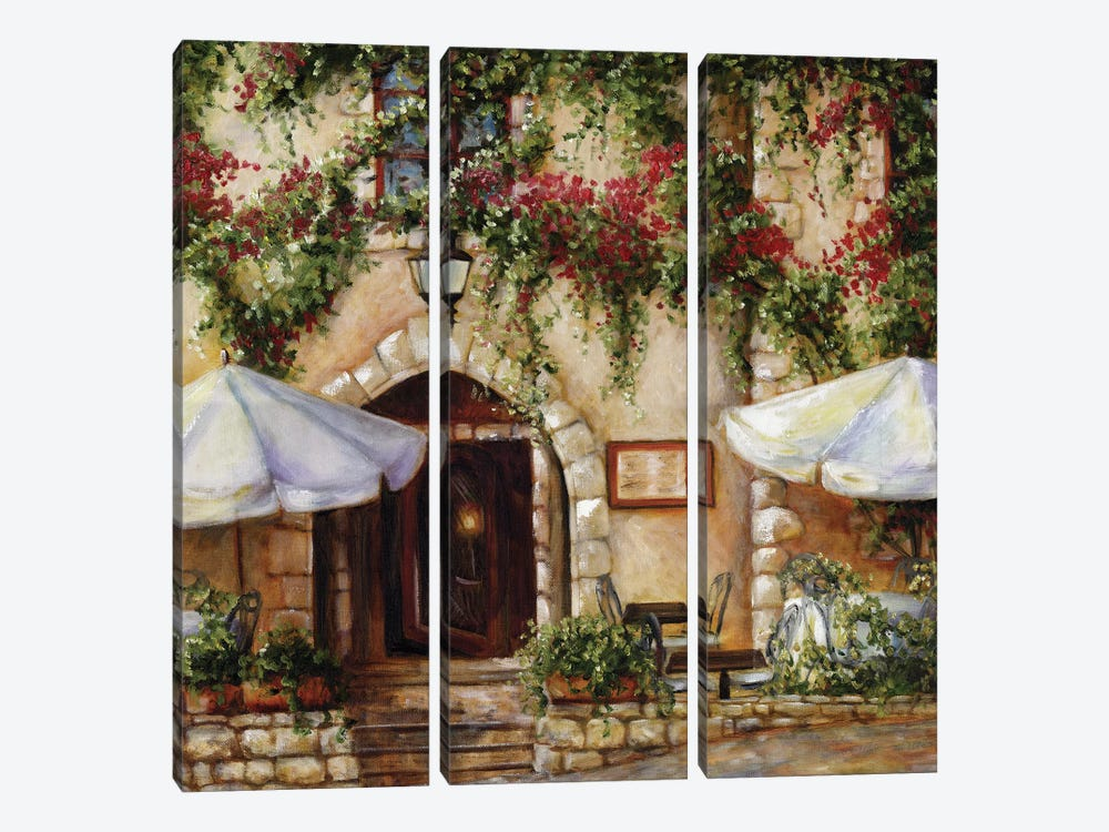 Cafe X by Malenda Trick 3-piece Canvas Artwork