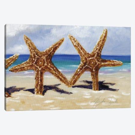 Two Starfish Canvas Print #TCK2} by Malenda Trick Canvas Print