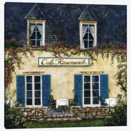 Cafe XI Canvas Print #TCK30} by Malenda Trick Art Print