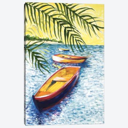 Caribboats II Canvas Print #TCK34} by Malenda Trick Canvas Wall Art