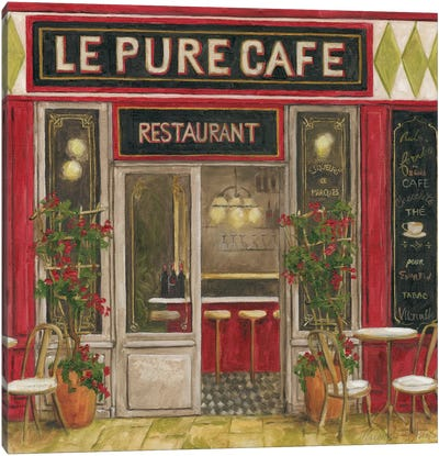 2011 Cafe I Canvas Art Print