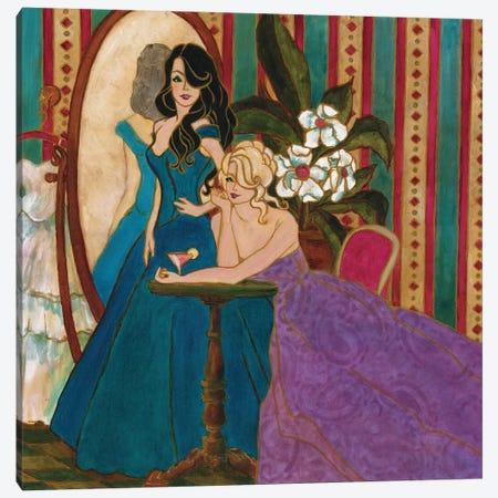 Divas At The Mirror Canvas Print #TCK50} by Malenda Trick Canvas Art Print