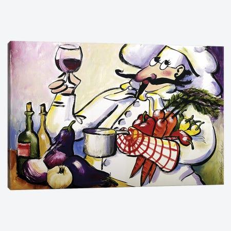 French Chef Canvas Print #TCK54} by Malenda Trick Canvas Wall Art