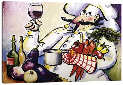French Chef Canvas Art Print
