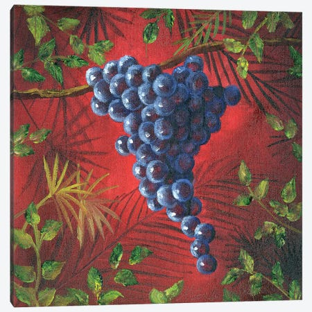 Sicillian Grapes II Canvas Print #TCK62} by Malenda Trick Canvas Art