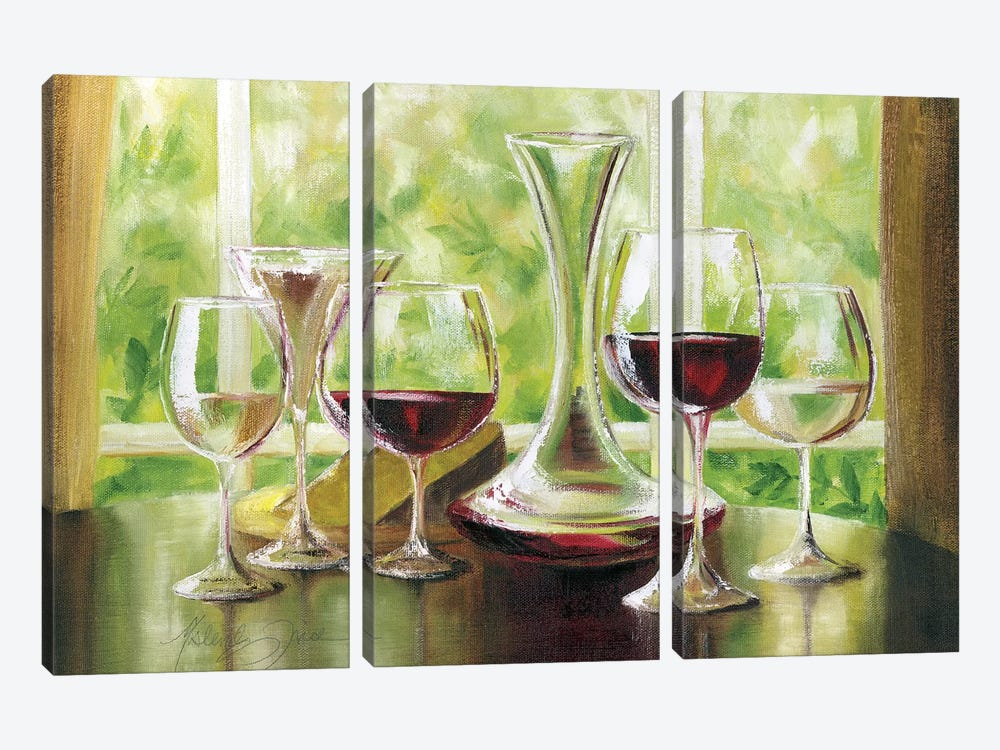 Sunday Brunch by Malenda Trick 3-piece Canvas Art Print
