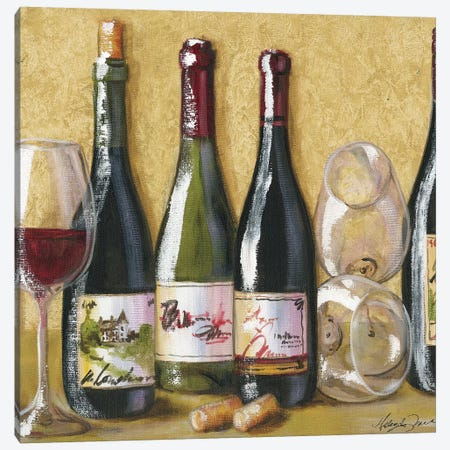 2013 Wine Tray Canvas Print #TCK6} by Malenda Trick Canvas Artwork
