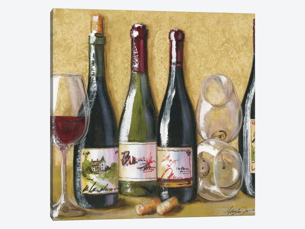 2013 Wine Tray by Malenda Trick 1-piece Canvas Art