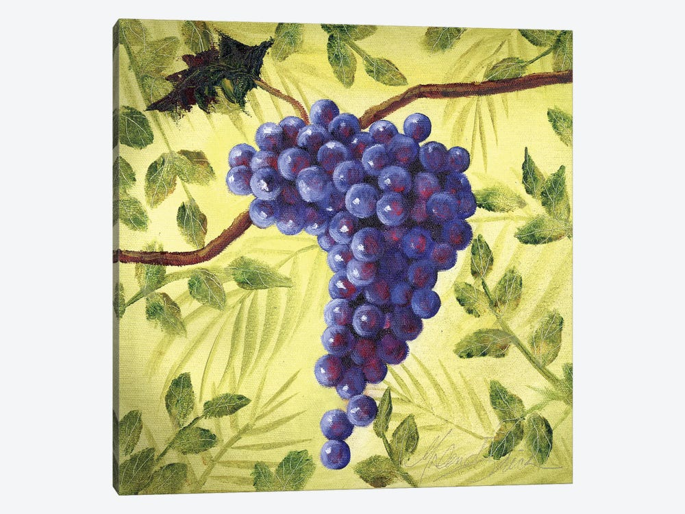 Sunshine Grapes III by Malenda Trick 1-piece Canvas Art