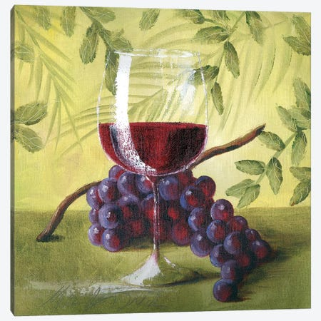 Sunshine Grapes V Canvas Print #TCK72} by Malenda Trick Art Print