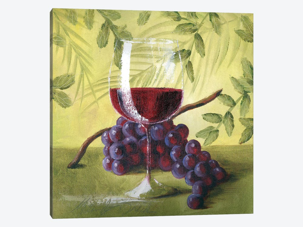 Sunshine Grapes V by Malenda Trick 1-piece Canvas Art
