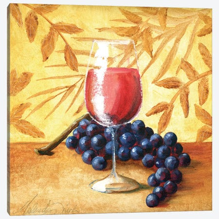 Sunshine Grapes VI Canvas Print #TCK73} by Malenda Trick Canvas Art Print