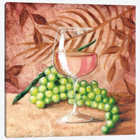 Sunshine Grapes VIII Canvas Print #TCK75} by Malenda Trick Canvas Artwork
