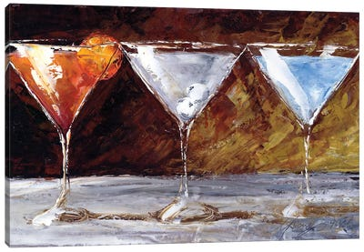 Three Martinis Canvas Art Print