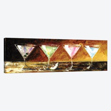 Four Martinis Canvas Print #TCK8} by Malenda Trick Art Print