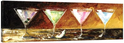 Four Martinis Canvas Art Print
