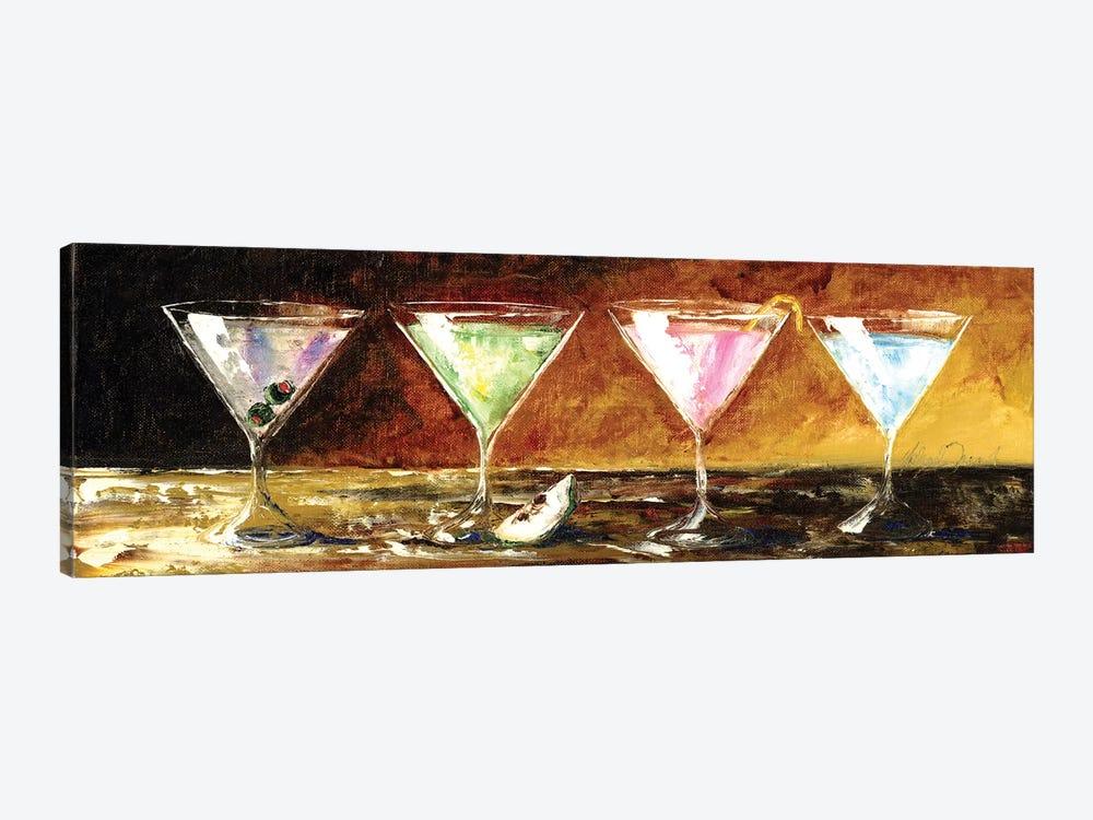 Four Martinis by Malenda Trick 1-piece Canvas Artwork