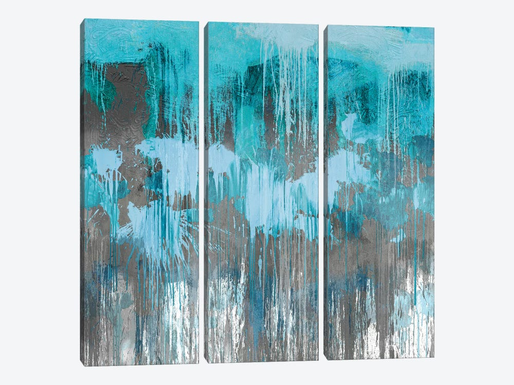 Unleashed Aqua 3-piece Canvas Print