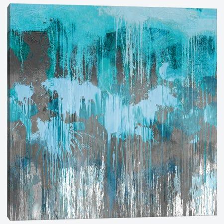 Unleashed Aqua Canvas Print #TCO10} by Tom Conley Canvas Art Print