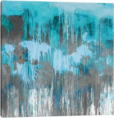 Unleashed Aqua Canvas Art Print