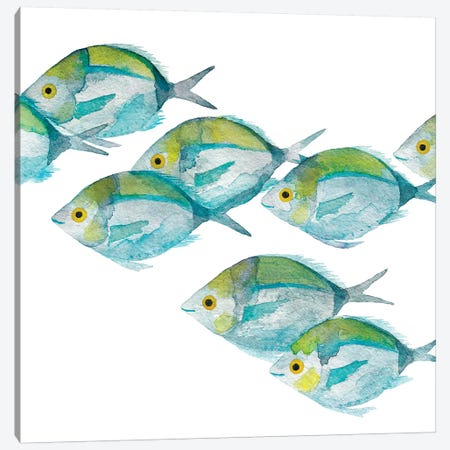 Fishes Canvas Print #TCW10} by The Cosmic Whale Art Print