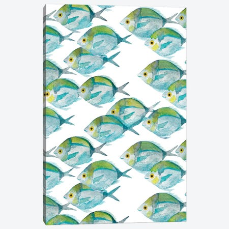 Fishes Pattern 3-Piece Canvas #TCW11} by The Cosmic Whale Canvas Print