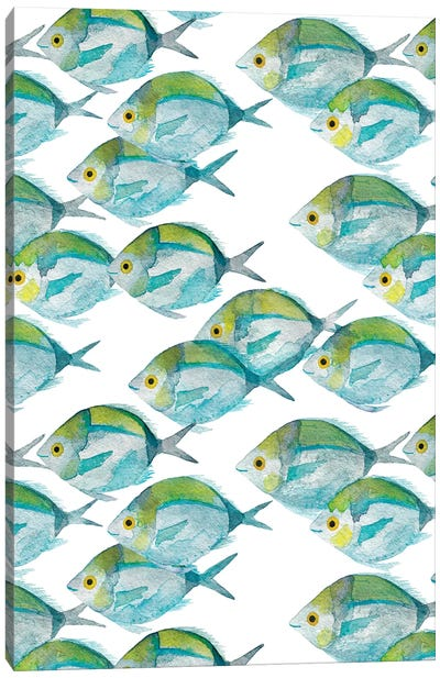 Fishes Pattern Canvas Art Print