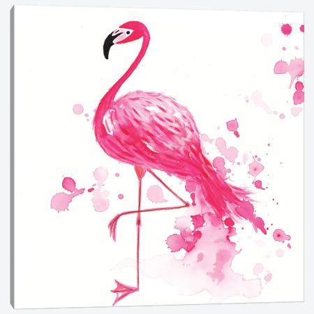 Flamingo I Canvas Print #TCW12} by The Cosmic Whale Art Print