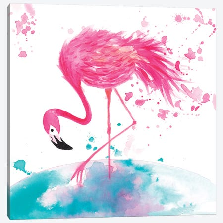 Flamingo II Canvas Print #TCW13} by The Cosmic Whale Canvas Art Print