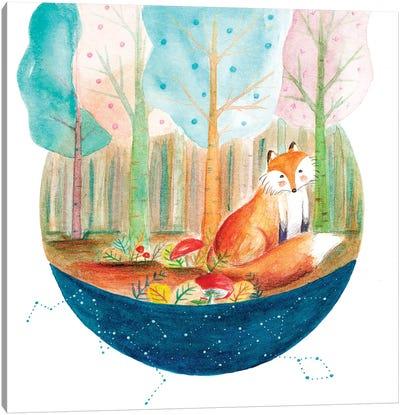 Fox And Whale I Canvas Art Print