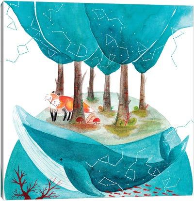 Fox And Whale II Canvas Art Print