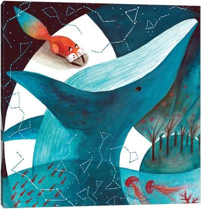 Fox And Whale III Canvas Art Print