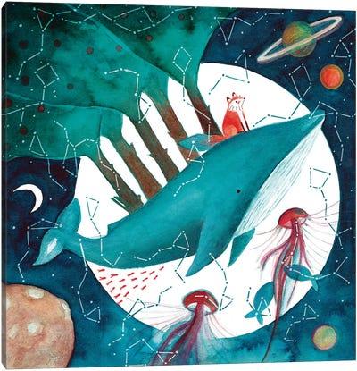 Fox And Whale IV Canvas Art Print