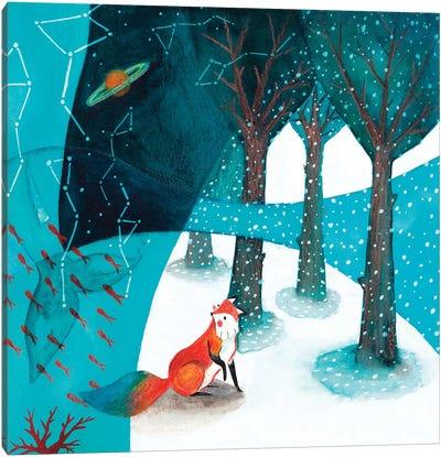 Fox And Whale V Canvas Art Print