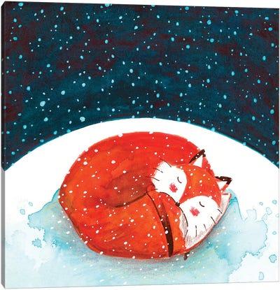 Fox WinterII Canvas Art Print