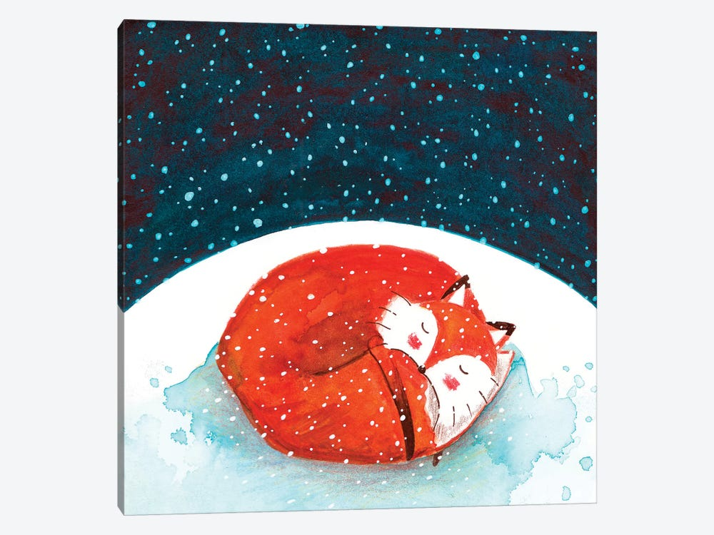 Fox WinterII by The Cosmic Whale 1-piece Canvas Wall Art
