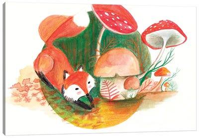 Foxy & Forest Canvas Art Print