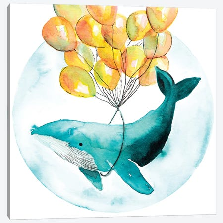 Magic Whale I 3-Piece Canvas #TCW24} by The Cosmic Whale Canvas Art Print